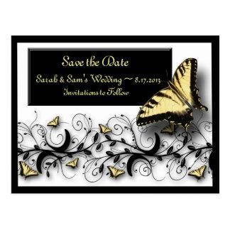 Économies de thème de papillon la date carte postale