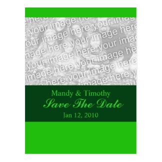 Économies de vert la date carte postale