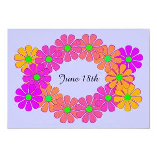 Économies florales de fête de guirlande le carton d'invitation 8,89 cm x 12,70 cm