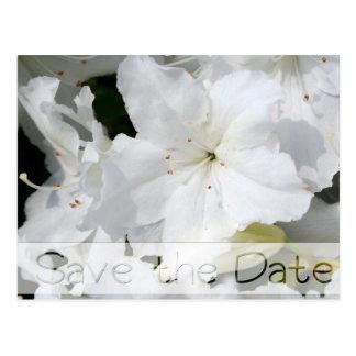 Économies florales de mariage d'azalées la carte carte postale