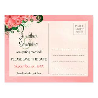 Économies florales de rose de ketmie les cartes carte postale