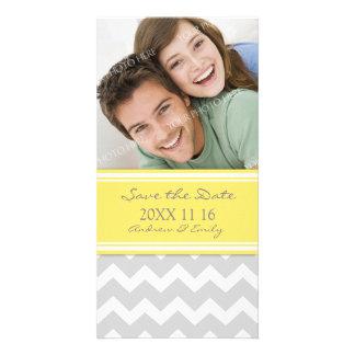 Économies jaunes de gris les cartes photos de cartes de vœux avec photo