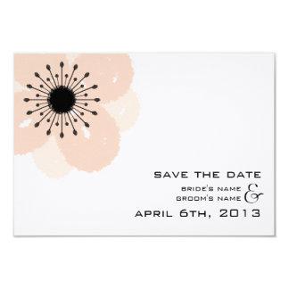 Économies modernes de mariage d'anémone française carton d'invitation 8,89 cm x 12,70 cm