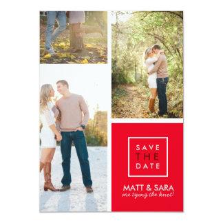 Économies modernes les MARIAGES du collage | de Carton D'invitation 12,7 Cm X 17,78 Cm
