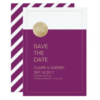 Économies modernes minimalistes de mariage carton d'invitation  12,7 cm x 17,78 cm