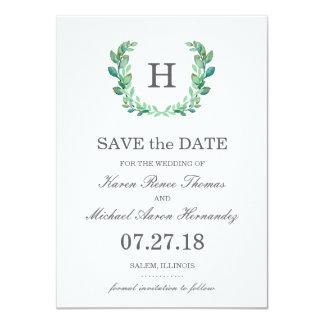 Économies naturelles de mariage de guirlande la carton d'invitation  11,43 cm x 15,87 cm