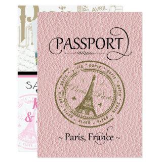Économies roses de passeport de Paris la carte de
