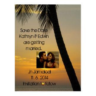 Économies tropicales de mariage de destination la cartes postales