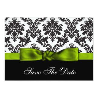 économies vertes de damassé la date carton d'invitation  12,7 cm x 17,78 cm