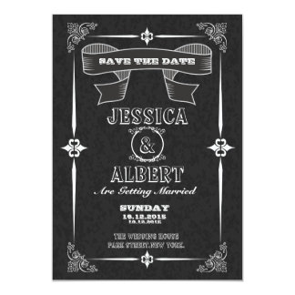 Économies vintages de tableau la carte postale de carton d'invitation  12,7 cm x 17,78 cm