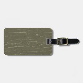 Écorce d'arbre verte d'armée étiquette à bagage