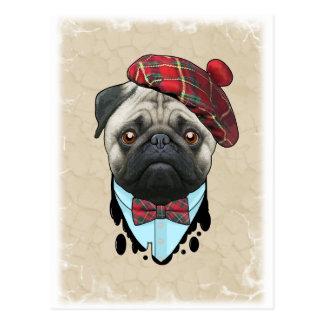 Ecossais de chien carte postale