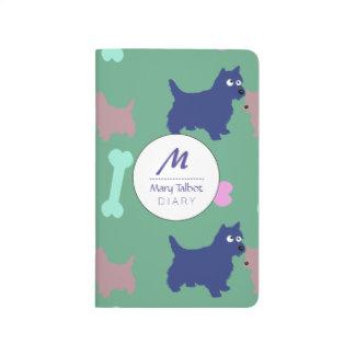 Écossais Terrier et journal de monogramme de chiot