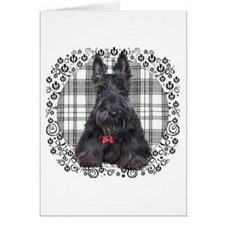 Écossais Terrier sur le tartan Carte De Vœux