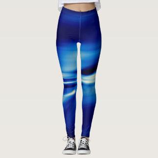 Écoulement régulier bleu legging