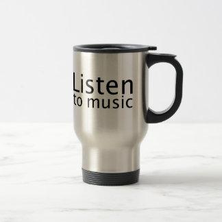 Écoutez la musique mug de voyage en acier inoxydable