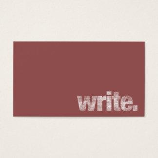 Écrivez : Écrivain indépendant, Marsala auteur Cartes De Visite
