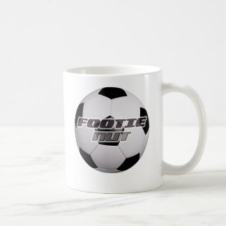 Écrou du football de Footie Mug Blanc