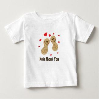 Écrous au sujet de vous humour mignon de calembour t-shirt pour bébé