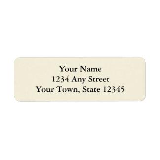 Ecru ou étiquettes de adresse de retour imprimés étiquette d'adresse retour