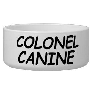 """Écuelle Cuvette de chien de """"colonel Canine"""""""