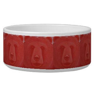 Écuelle Cuvette vermeille de chien d'ours