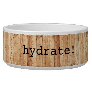 """Écuelle Grand """"hydrate !"""" cuvette en céramique de chien -"""