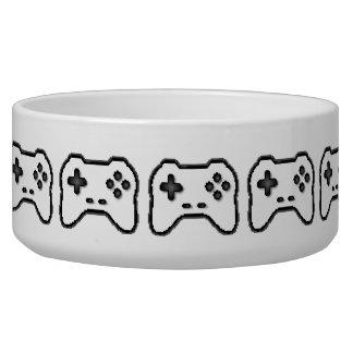 Écuelle Style blanc du jeu vidéo 8bit de noir de contrôleu