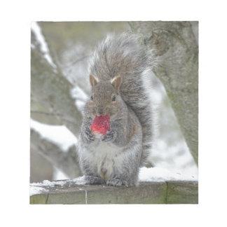 Écureuil de fraise bloc-note