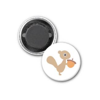 Écureuil ! magnet carré 2,50 cm