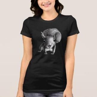 Écureuil mignon curieux t-shirt