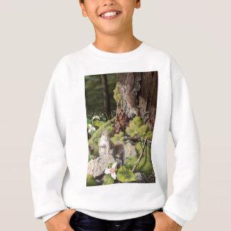 Écureuils et Trilliums gris, écureuils et fleur Sweatshirt