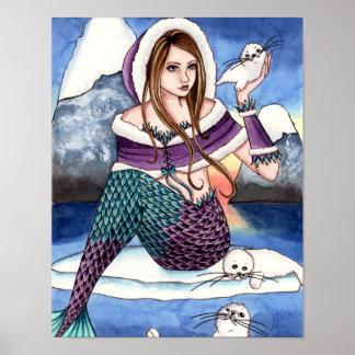 Edeline - affiche de phoque de harpé de sirène