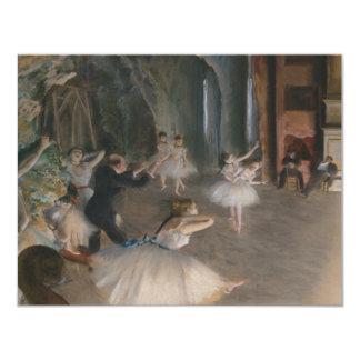 Edgar Degas Carton D'invitation 10,79 Cm X 13,97 Cm