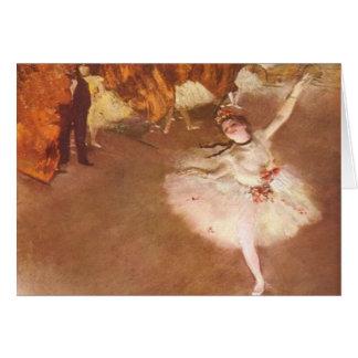 Edgar Degas la carte de voeux d'étoile