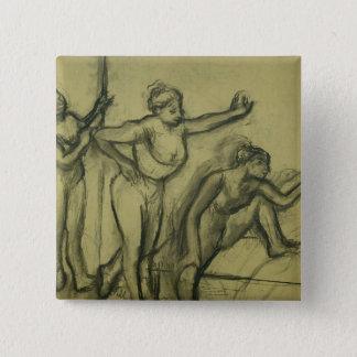 Edgar Degas | trois danseurs, c.1900 Badge Carré 5 Cm