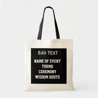 Edit remplacent le budget FOURRE-TOUT de modèle de Tote Bag