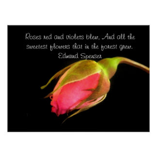 Edmund Spenser Sweetest Flowers Quote Poster