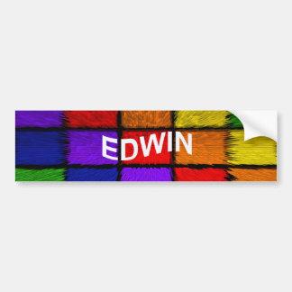 EDWIN AUTOCOLLANT DE VOITURE