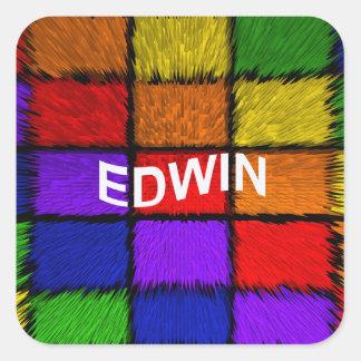 EDWIN STICKER CARRÉ