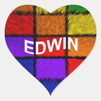 EDWIN STICKER CŒUR