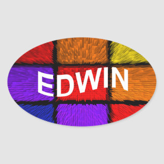 EDWIN STICKER OVALE