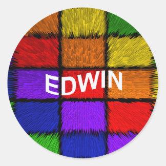 EDWIN STICKER ROND