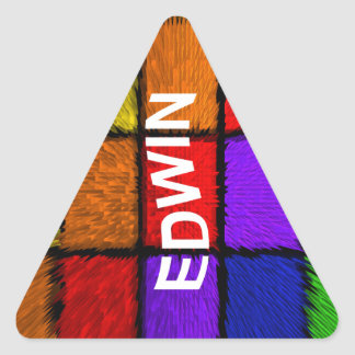 EDWIN STICKER TRIANGULAIRE
