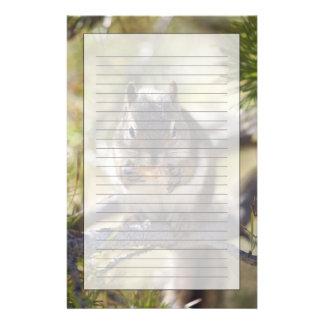 Eekhoorn die een denneappel eten briefpapier