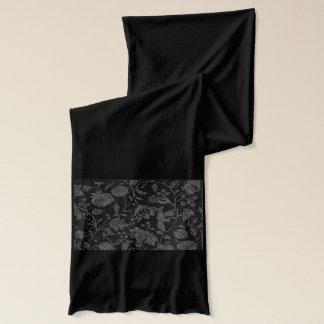 Een elegant Gotisch vintage zwart bloemenpatroon Sjaal