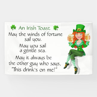 Een Ierse Toost Spandoek