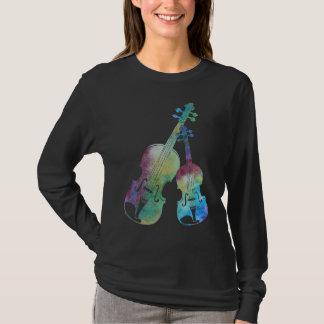 Een kleurrijk Duet van Viool en Altviool T Shirt
