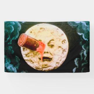 Een reis aan La Lune van de Maan Retro Le Voyage Spandoek