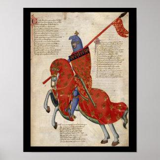 Een ridder van Poster Prato